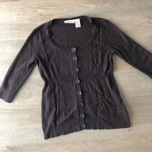 Chocolate Button Sweater Top